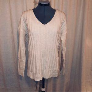 Cream Gap V-Neck Slouchy Sweater